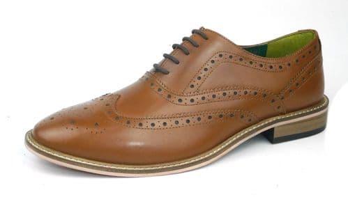 Frank James Zeno Tan Brogue Shoes